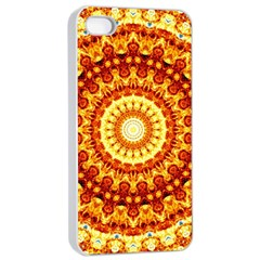 Powerful Love Mandala Apple Iphone 4/4s Seamless Case (white) by designworld65