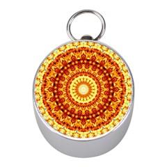 Powerful Love Mandala Mini Silver Compasses by designworld65
