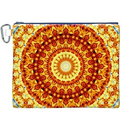 Powerful Love Mandala Canvas Cosmetic Bag (xxxl) by designworld65