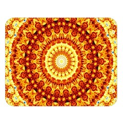 Powerful Love Mandala Double Sided Flano Blanket (large)  by designworld65