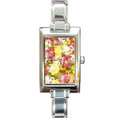 Flower Power Rectangle Italian Charm Watch