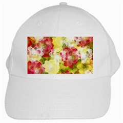 Flower Power White Cap