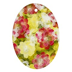 Flower Power Ornament (oval)