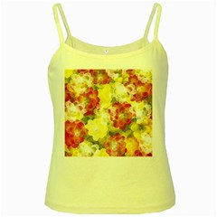 Flower Power Yellow Spaghetti Tank