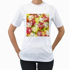 Flower Power Women s T Shirt (white) (two Sided)