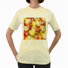 Flower Power Women s Yellow T Shirt