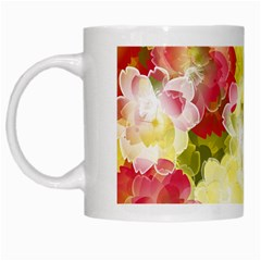 Flower Power White Mugs by designworld65