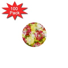 Flower Power 1  Mini Buttons (100 Pack)