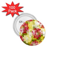 Flower Power 1 75  Buttons (100 Pack)