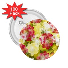 Flower Power 2 25  Buttons (100 Pack)