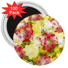 Flower Power 3  Magnets (100 Pack)