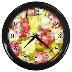 Flower Power Wall Clocks (black)