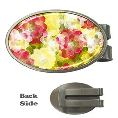 Flower Power Money Clips (oval)  by designworld65