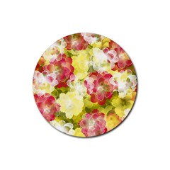 Flower Power Rubber Coaster (round)