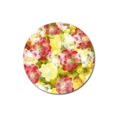 Flower Power Magnet 3  (round)