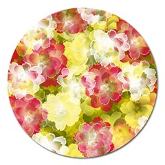 Flower Power Magnet 5  (round)