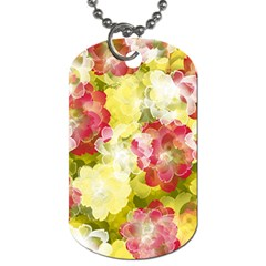 Flower Power Dog Tag (one Side)