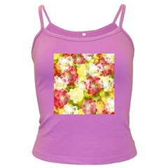 Flower Power Dark Spaghetti Tank