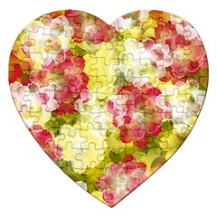 Flower Power Jigsaw Puzzle (heart)