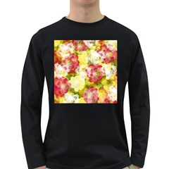 Flower Power Long Sleeve Dark T Shirts