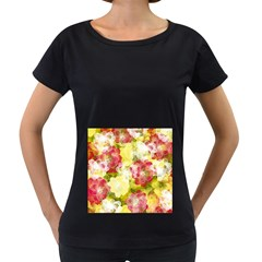 Flower Power Women s Loose Fit T Shirt (black)