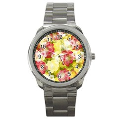 Flower Power Sport Metal Watch