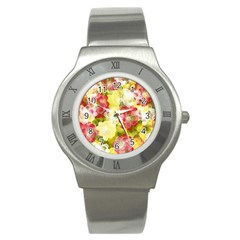 Flower Power Stainless Steel Watch