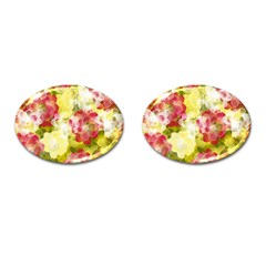 Flower Power Cufflinks (oval)