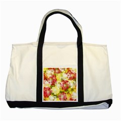 Flower Power Two Tone Tote Bag by designworld65