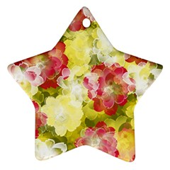 Flower Power Star Ornament (two Sides)
