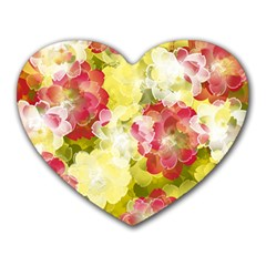 Flower Power Heart Mousepads