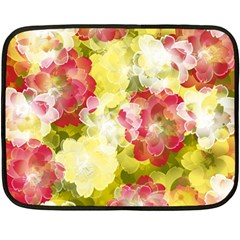 Flower Power Double Sided Fleece Blanket (mini)