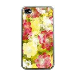 Flower Power Apple Iphone 4 Case (clear) by designworld65