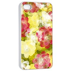 Flower Power Apple Iphone 4/4s Seamless Case (white) by designworld65