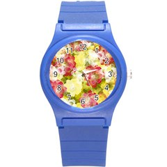 Flower Power Round Plastic Sport Watch (s) by designworld65
