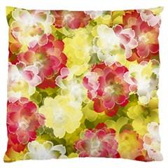 Flower Power Large Cushion Case (one Side) by designworld65