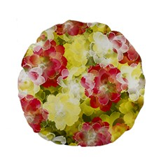 Flower Power Standard 15  Premium Round Cushions by designworld65