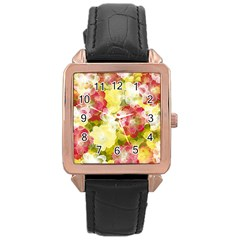 Flower Power Rose Gold Leather Watch