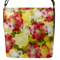 Flower Power Flap Messenger Bag (s) by designworld65