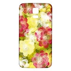 Flower Power Samsung Galaxy S5 Back Case (white) by designworld65