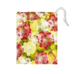 Flower Power Drawstring Pouches (large)