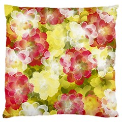 Flower Power Large Flano Cushion Case (one Side)