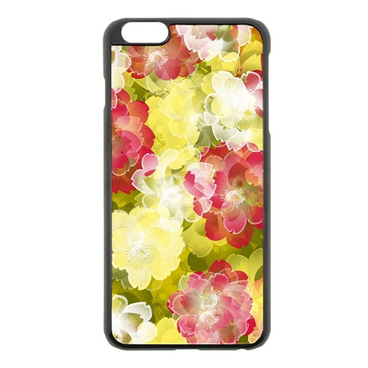 Flower Power Apple iPhone 6 Plus/6S Plus Black Enamel Case