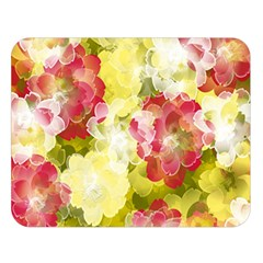 Flower Power Double Sided Flano Blanket (large)  by designworld65