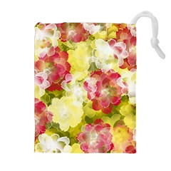 Flower Power Drawstring Pouches (extra Large)