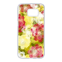 Flower Power Samsung Galaxy S7 Edge White Seamless Case