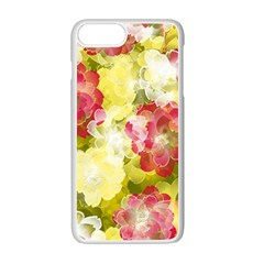 Flower Power Apple Iphone 7 Plus White Seamless Case