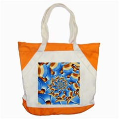 Gold Blue Bubbles Spiral Accent Tote Bag by designworld65