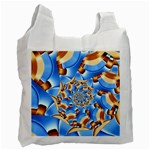 Gold Blue Bubbles Spiral Recycle Bag (One Side) Front