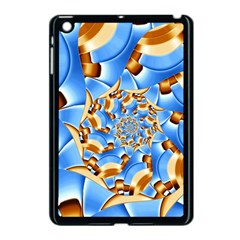 Gold Blue Bubbles Spiral Apple Ipad Mini Case (black) by designworld65